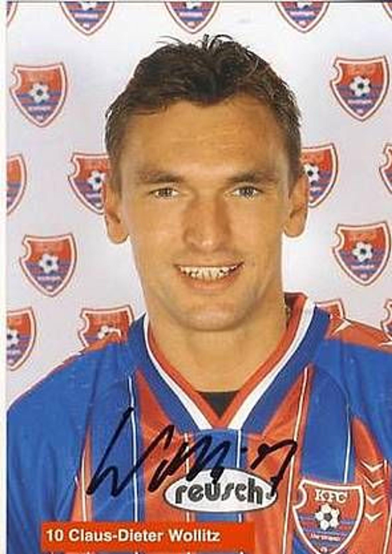 Claus Dieter Wollitz Kfc Uerdingen 1996 97 Autogrammkarte