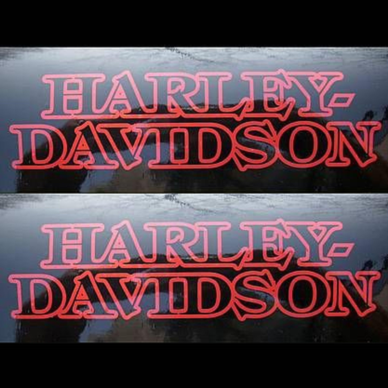 2x Aufkleber Sticker Harley Davidson Tank 100 Years Ol 0428