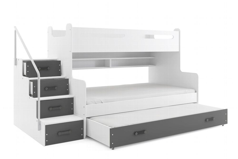 Etagenbett Mit Seitlicher Treppe : Etagenbett luca ii mit seitlicher treppe grau kaufen bei hood