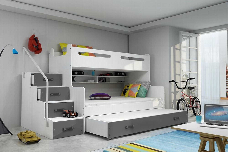 Etagenbett Luca 2 Bewertung : Etagenbett luca ii mit seitlicher treppe grau kaufen bei hood