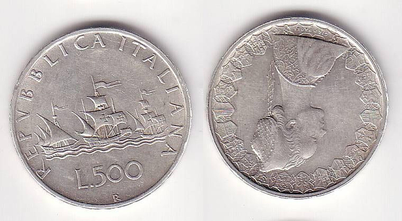 500 Lire Silber Münze Italien Kolumbus Flotte 1959 Gebraucht Kaufen
