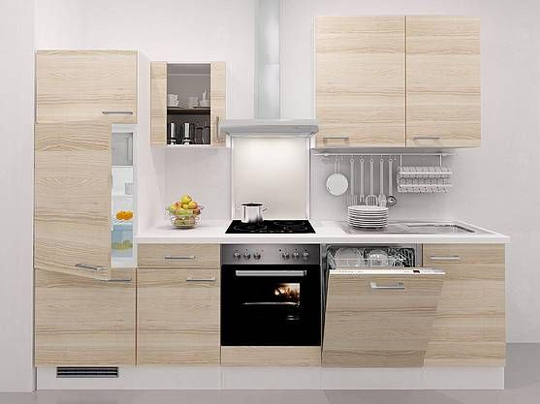 Küchenzeile Aktion ~ aktion küchenzeile p 944 280 cm akazie weiss dekor inkl e geräte kaufen bei hood de