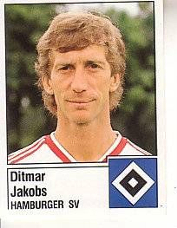 Panini fussball 1987 ditmar jakobs hamburger sv bild nr for Ditmar jakobs