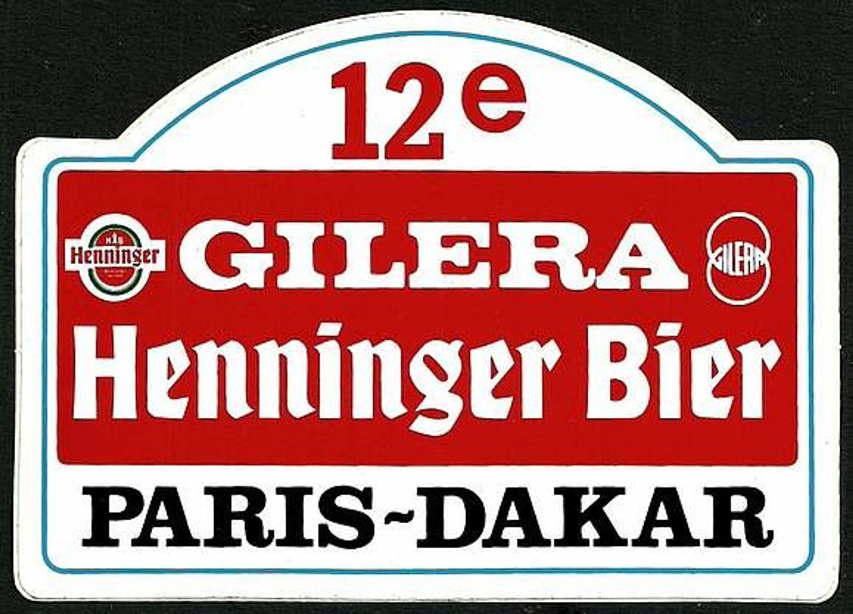Alt Aufkleber Rallye Paris Dakar Henninger Bier