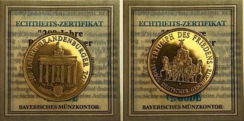 Göde Echtheits Zertifikat M7961 200 Jahre Brandenburger Tor 102