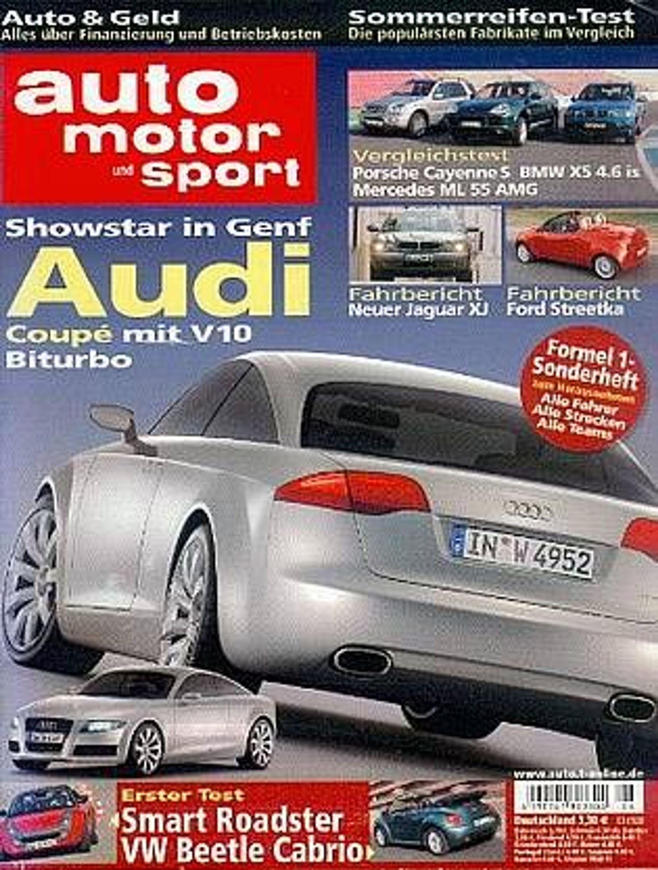 auto motor und sport 603 audi coupe jaguar cayenne formel 1 smart gebraucht kaufen bei. Black Bedroom Furniture Sets. Home Design Ideas