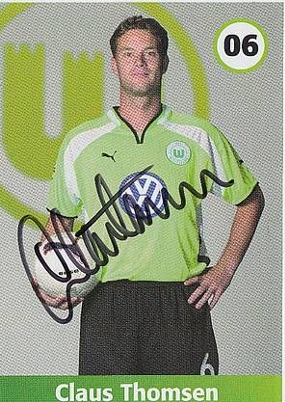 Claus Thomsen Vfl Wolfsburg 2001 02 Autogrammkarte