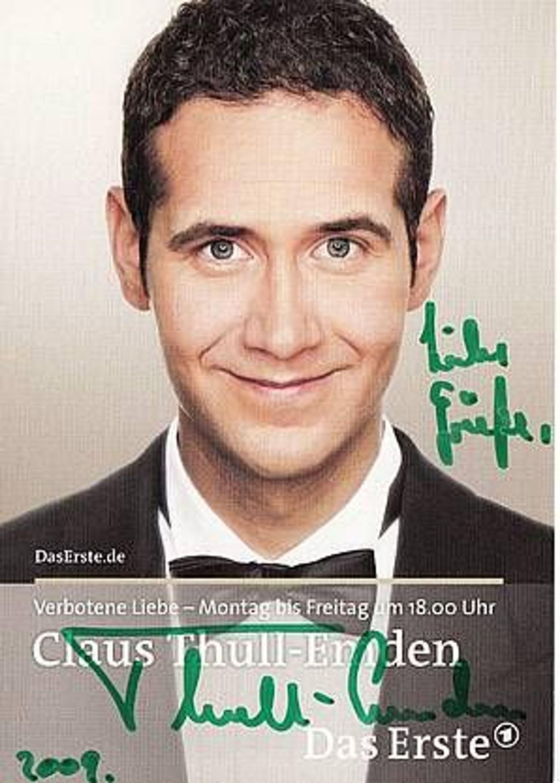 Claus Thull Emden Autogrammkarte Original Signiert Bek
