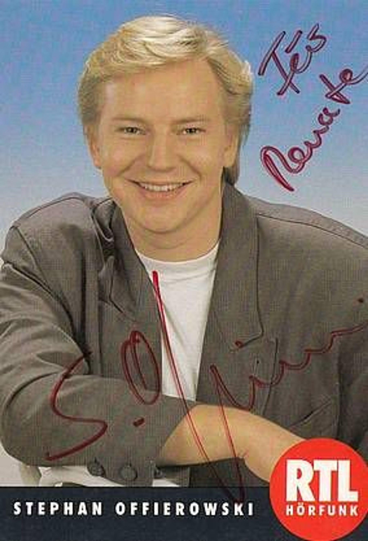 <b>Stephan Offierowski</b> TOP AK 90er Jahre Original Signiert bek. aus RTL Radio + ... - 31502601
