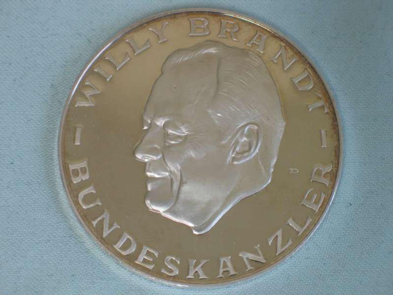 Schwere Medaille Willy Brandt Nobelpreis Aus 1000er Feinsilber 25