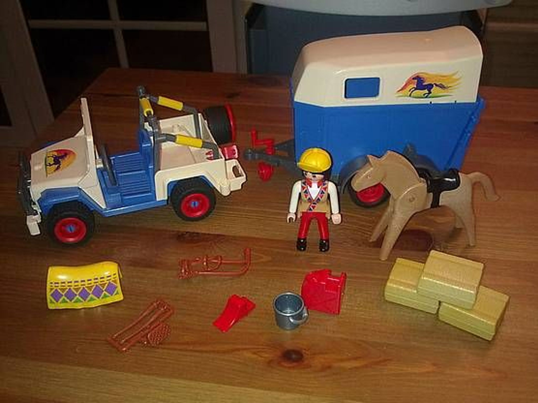 playmobil 3851 jeep mit pferdeanh nger gebraucht gebraucht kaufen bei. Black Bedroom Furniture Sets. Home Design Ideas
