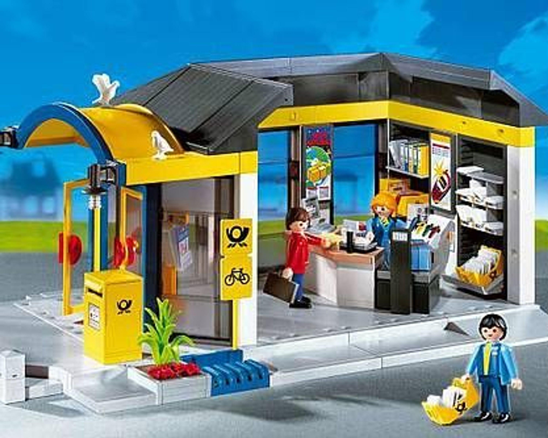 playmobil 4400 top ovp postamt postpartner briefkasten. Black Bedroom Furniture Sets. Home Design Ideas