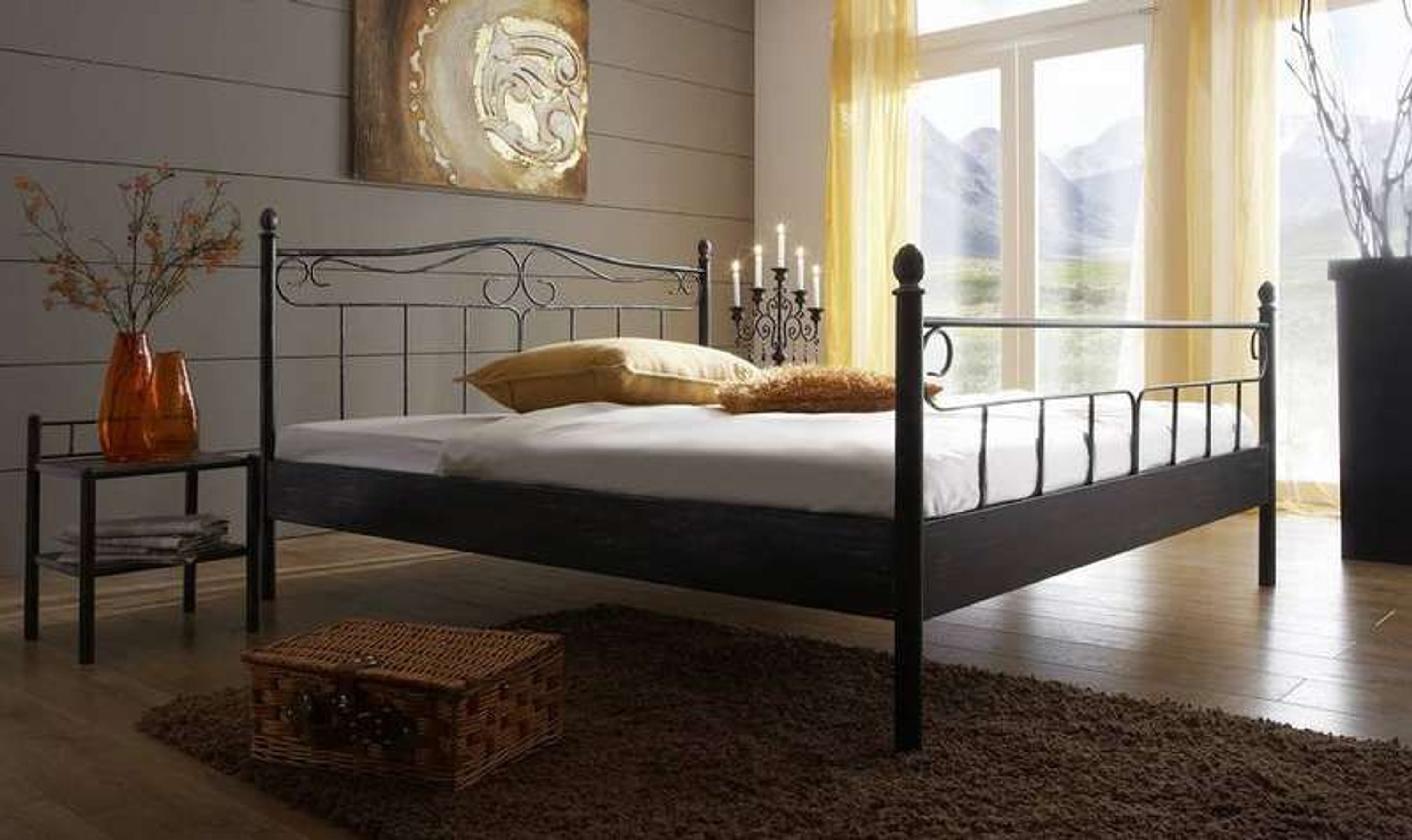 metall bett doppelbett zypern 140x200 kaufen bei. Black Bedroom Furniture Sets. Home Design Ideas