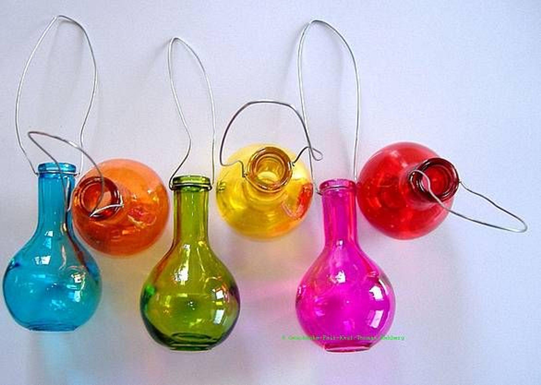 Vasen Set 6 Teilig Bunt Dekoration Farbenfrohe Fr Hlings