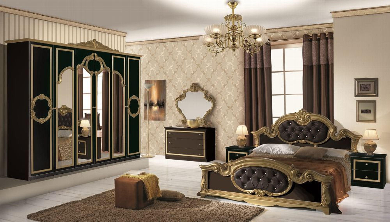 Schlafzimmer Barocco in weiss gold 180x200 Klassik Barock