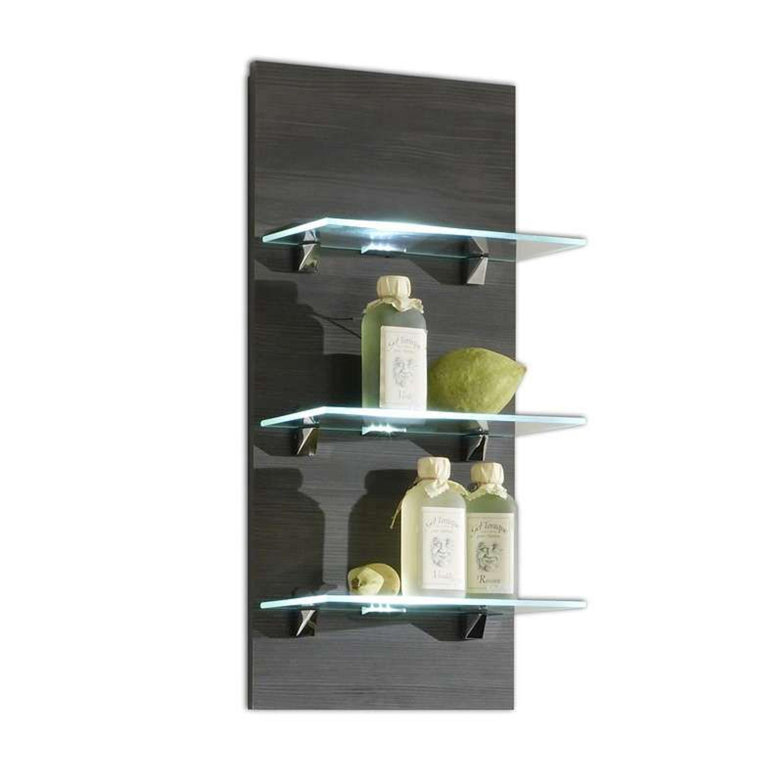 wandregal marano mit glasb den und beleuchtung wandregal. Black Bedroom Furniture Sets. Home Design Ideas