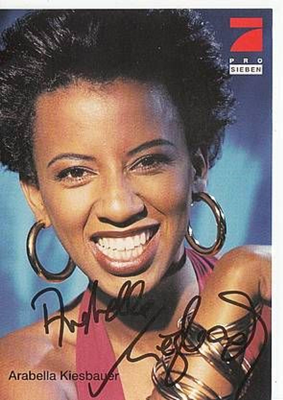 Arabella Kiesbauer Autogrammkarte Bek Aus Kommissar Rex