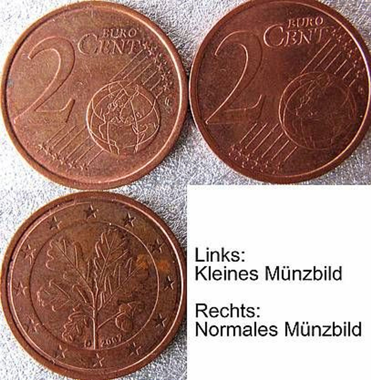 2 Cent 2002 D Euro Variante Fehlprägung Kleines Münzbild Kmb