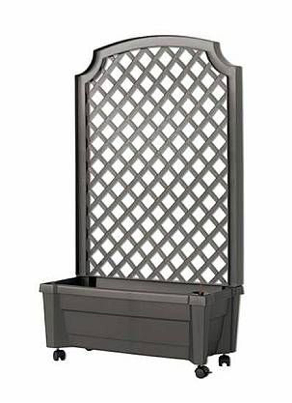 pflanzkasten calypso mit spalier u rollen blumentopf khw pflanzkasten anthrazit neu kaufen bei. Black Bedroom Furniture Sets. Home Design Ideas