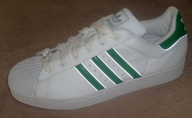 Adidas Superstar Grüne Streifen