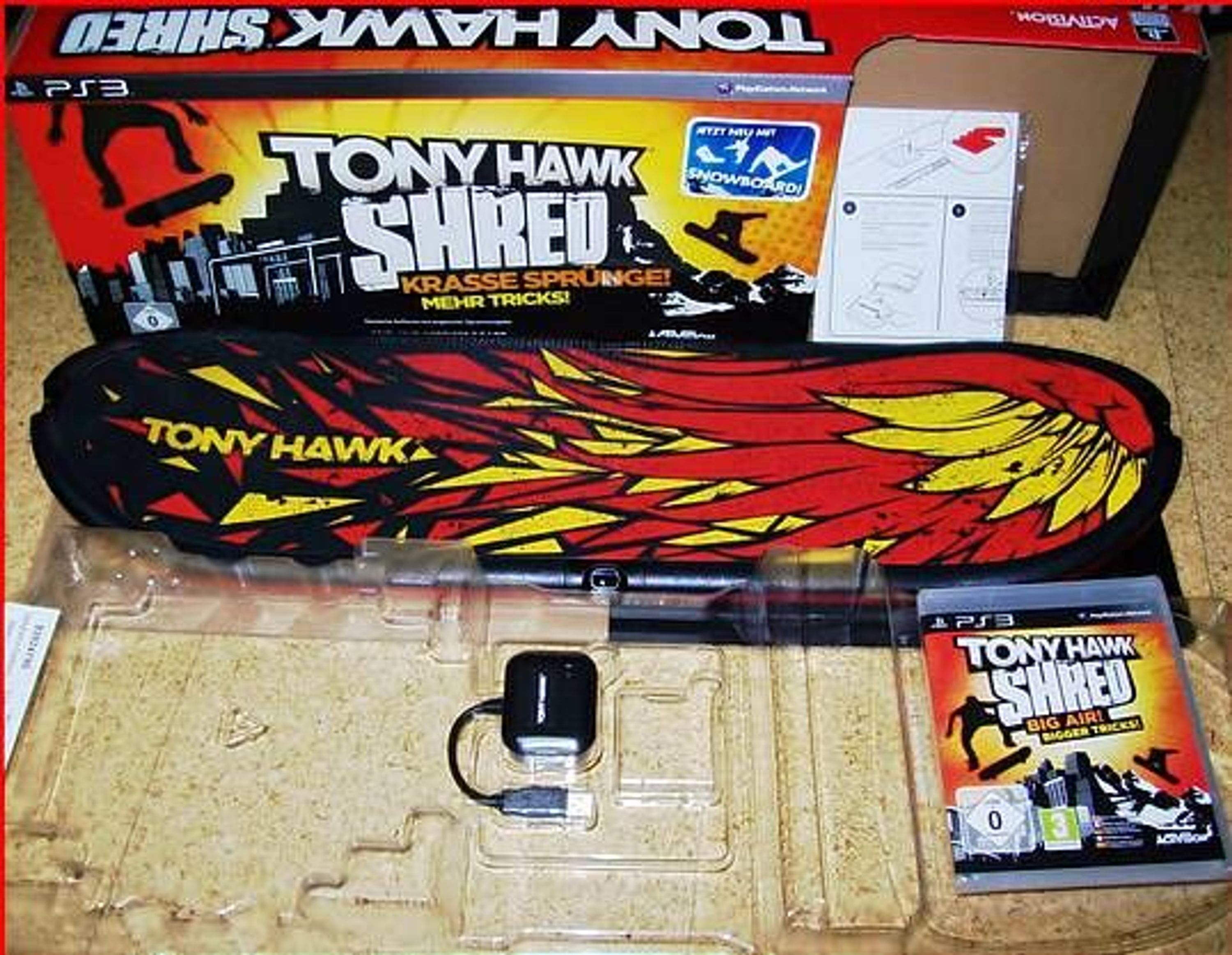 sony ps3 tony hawk shred spiel kabelloses board. Black Bedroom Furniture Sets. Home Design Ideas
