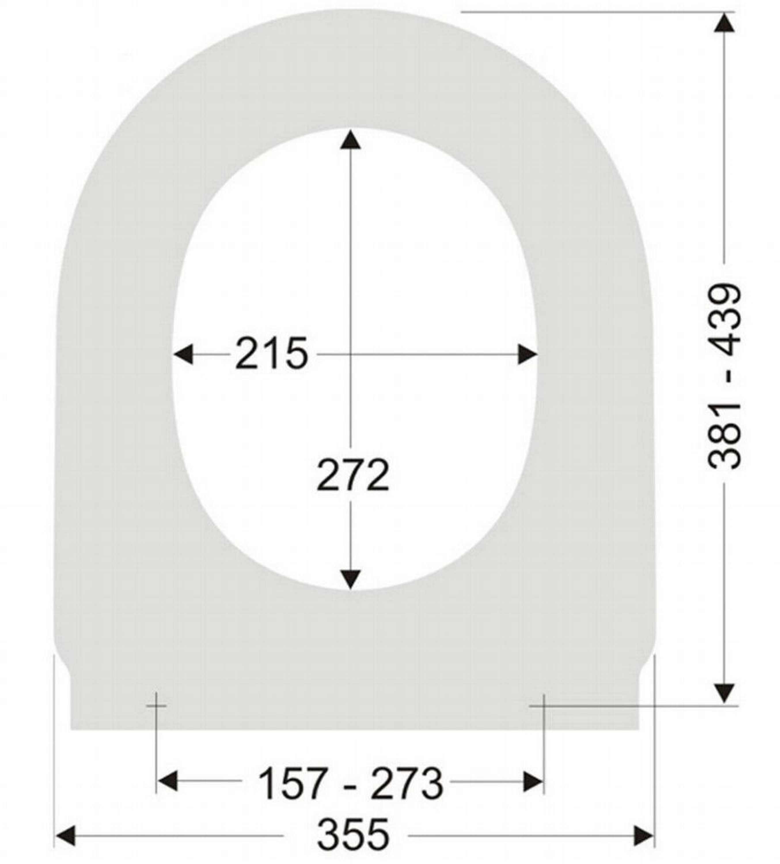 WC Sitz Sanibel zu Duravit Starck 3 Softclose Absenkautomatik Abnehmbar  Rimless