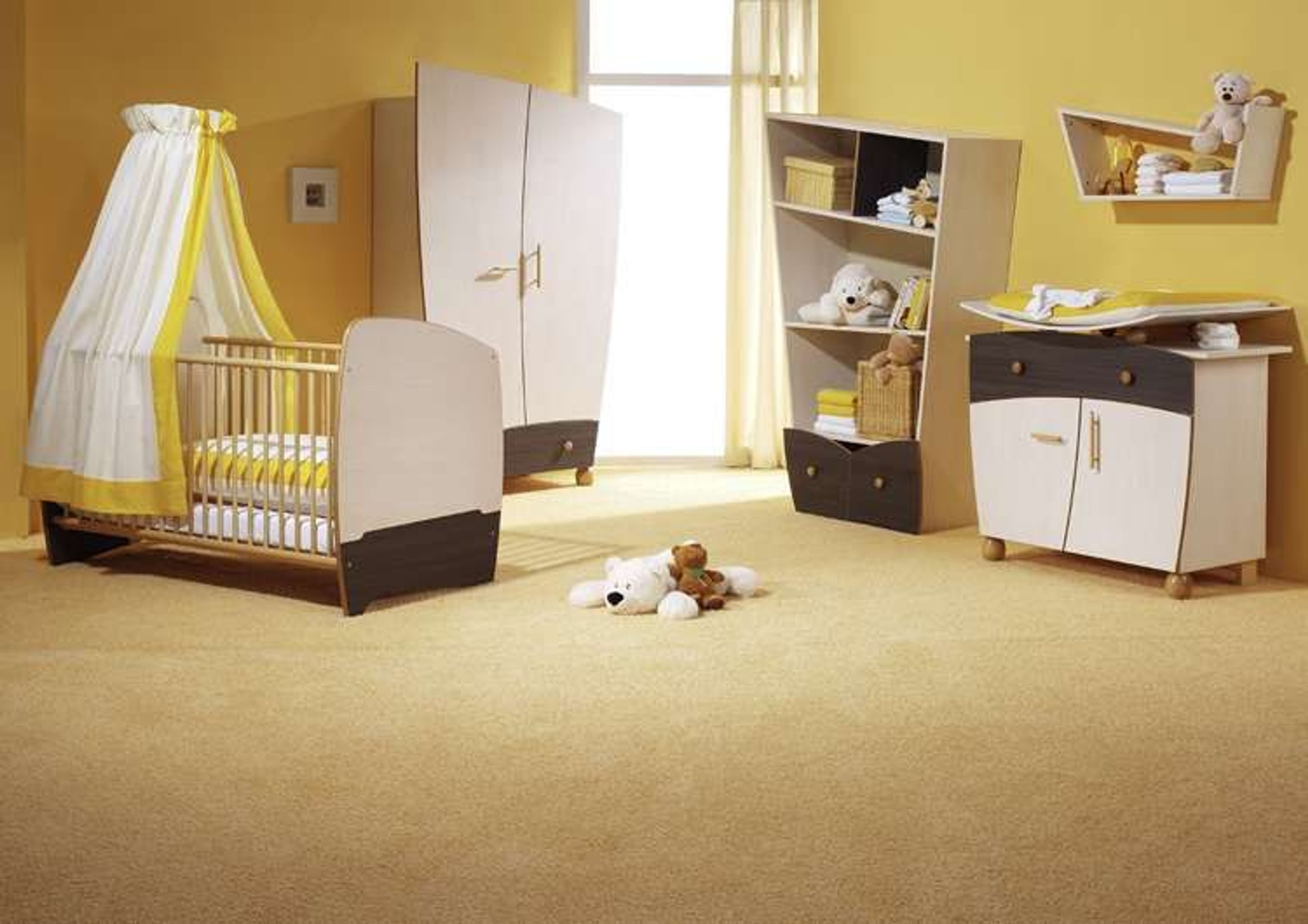 taube kinderzimmer babyzimmer fantasia ahorn braun bett kommode schrank kaufen bei. Black Bedroom Furniture Sets. Home Design Ideas