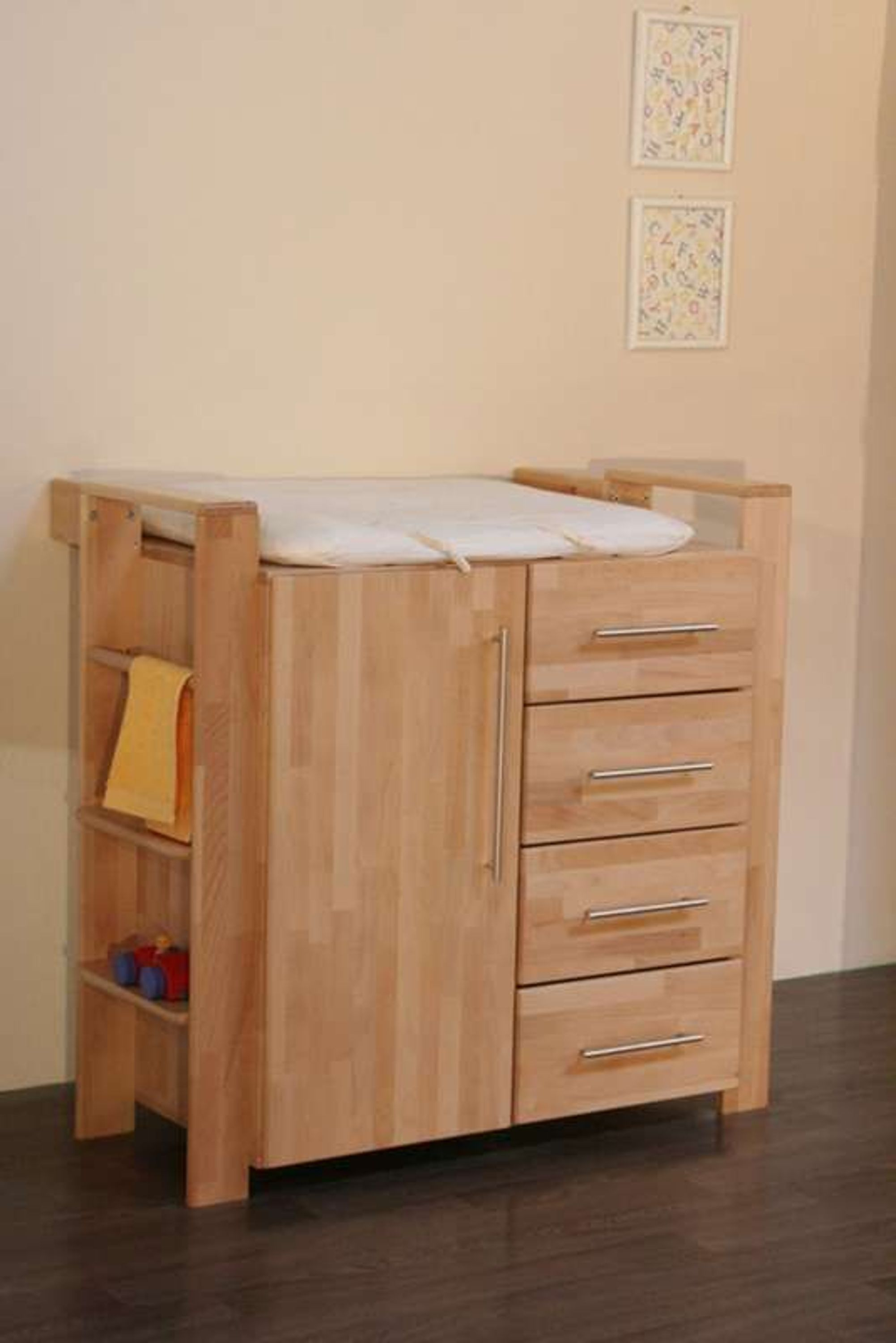 taube kinderzimmer babyzimmer gustav bett kommode schrank buche massiv ge lt kaufen bei. Black Bedroom Furniture Sets. Home Design Ideas