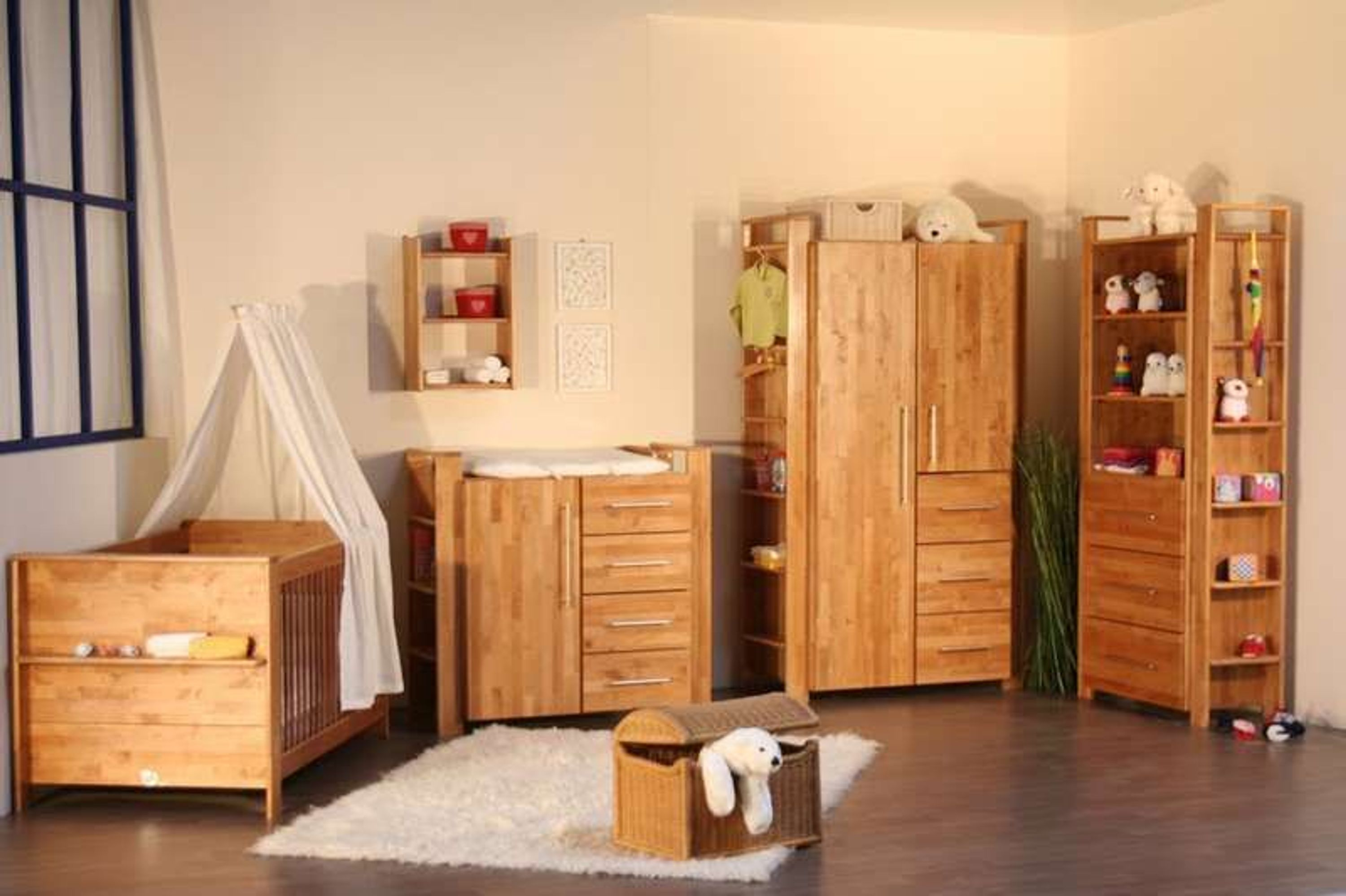 taube kinderzimmer babyzimmer gustav bett kommode schrank erle massiv ge lt kaufen bei. Black Bedroom Furniture Sets. Home Design Ideas