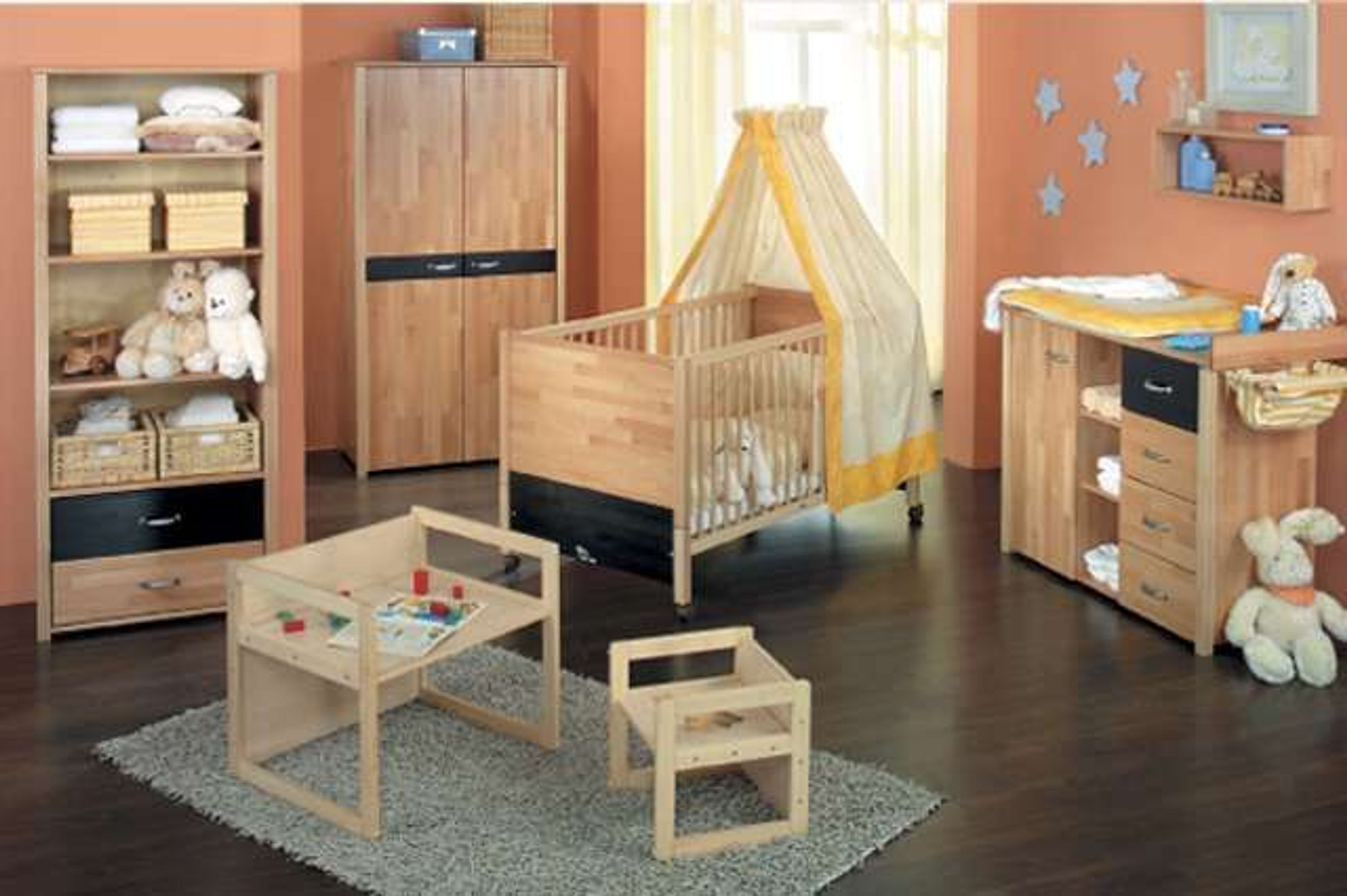 taube kinderzimmer babyzimmer oliver bett kommode schrank 2 t rig buche o birke kaufen bei. Black Bedroom Furniture Sets. Home Design Ideas