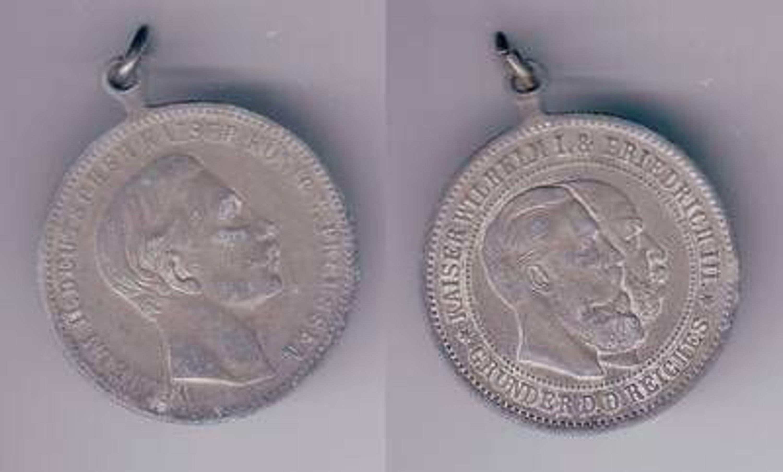 Alte Medaille Wilhelm I Friedrich Iii Und Wilhelm Ii Deutscher