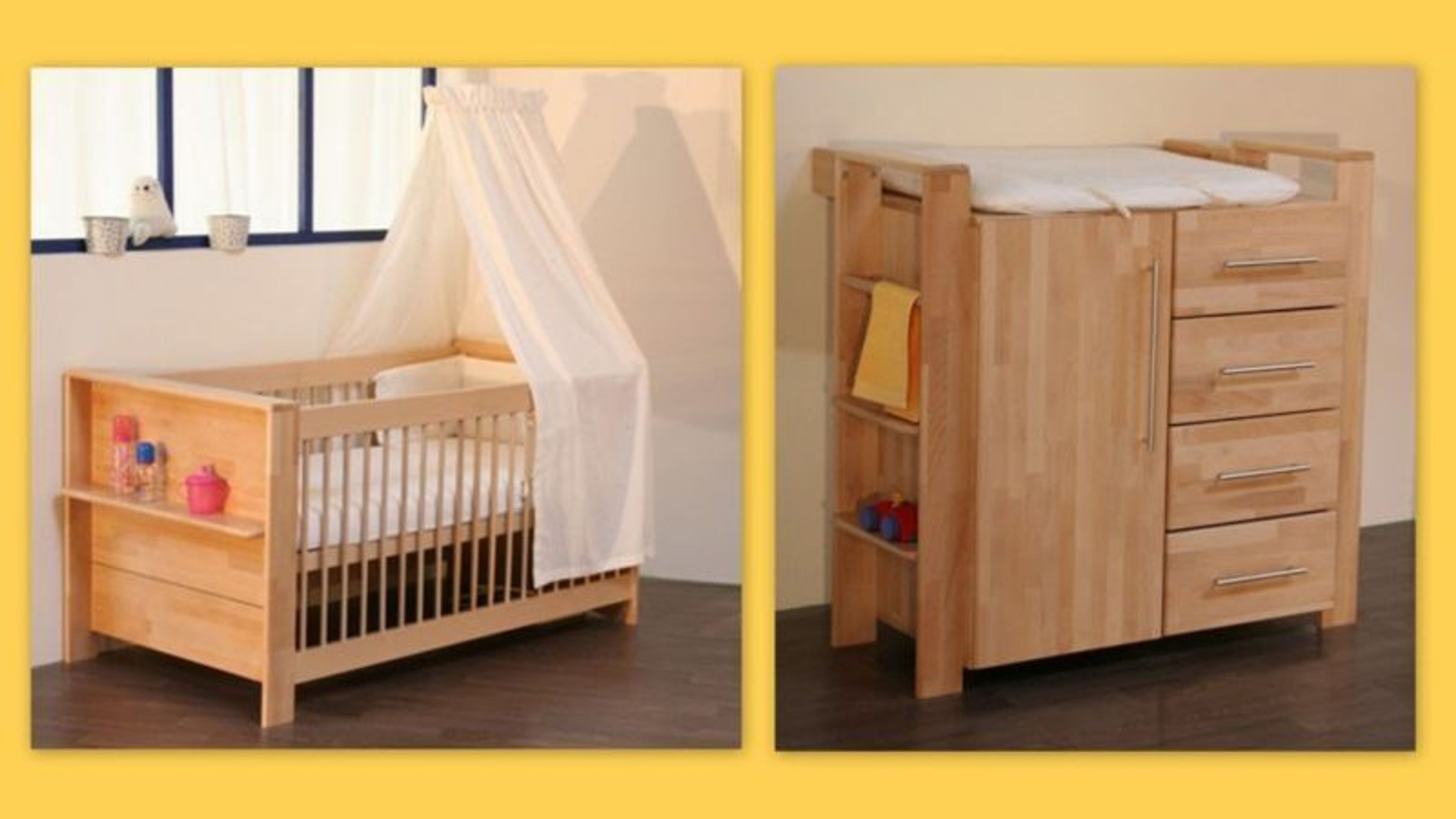 taube kinderzimmer babyzimmer gustav bett u wickelkommode buche massiv ge lt kaufen bei. Black Bedroom Furniture Sets. Home Design Ideas