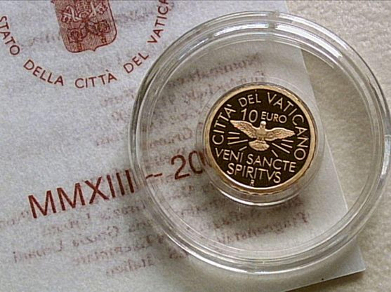 Original 10 Euro 2013 Gold Pp Vatikan Sedisvakanz Sede Vacante Im