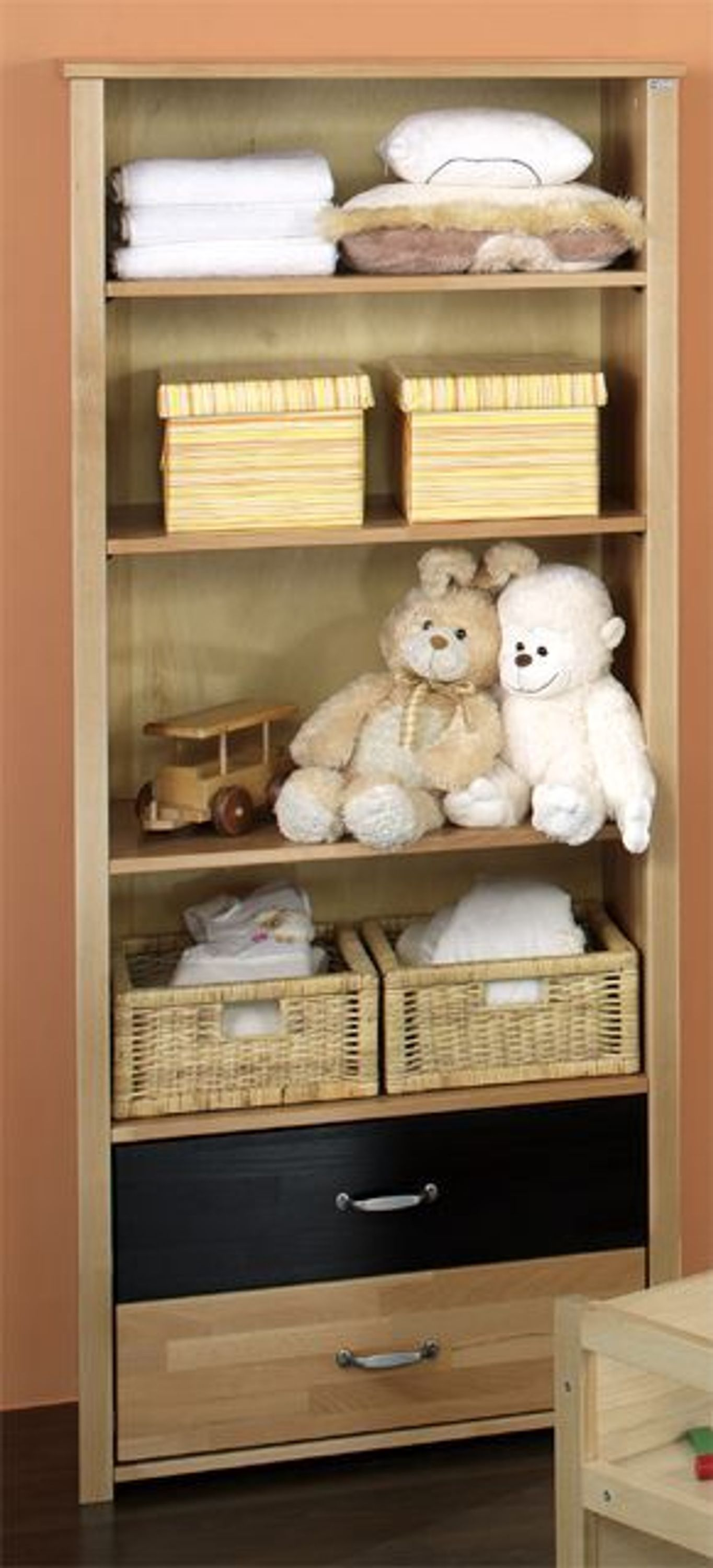 taube kinderzimmer babyzimmer oliver standregal buche. Black Bedroom Furniture Sets. Home Design Ideas
