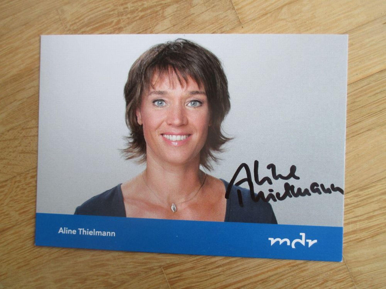 MDR Fernsehmoderatorin Aline Thielmann - handsigniertes