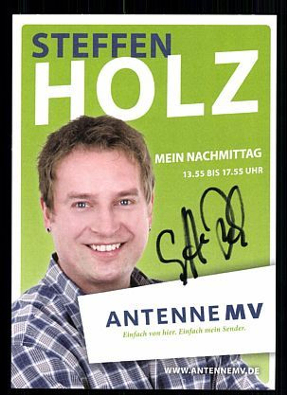 <b>Steffen Holz</b> Autogrammkarte Original Signiert bek. aus Antenne MV + 73604 ... - 36259664