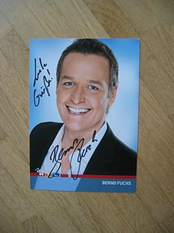 Rtl Fernsehmoderator Bernd Fuchs Handsigniertes Autogramm