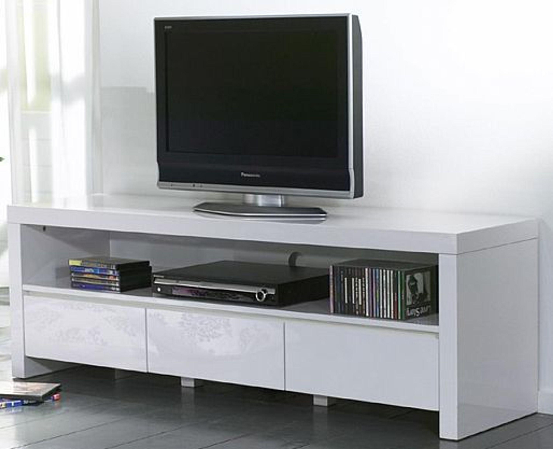 high gloss tv tisch auf rollen hochglanz schwarz oder wei kaufen bei. Black Bedroom Furniture Sets. Home Design Ideas