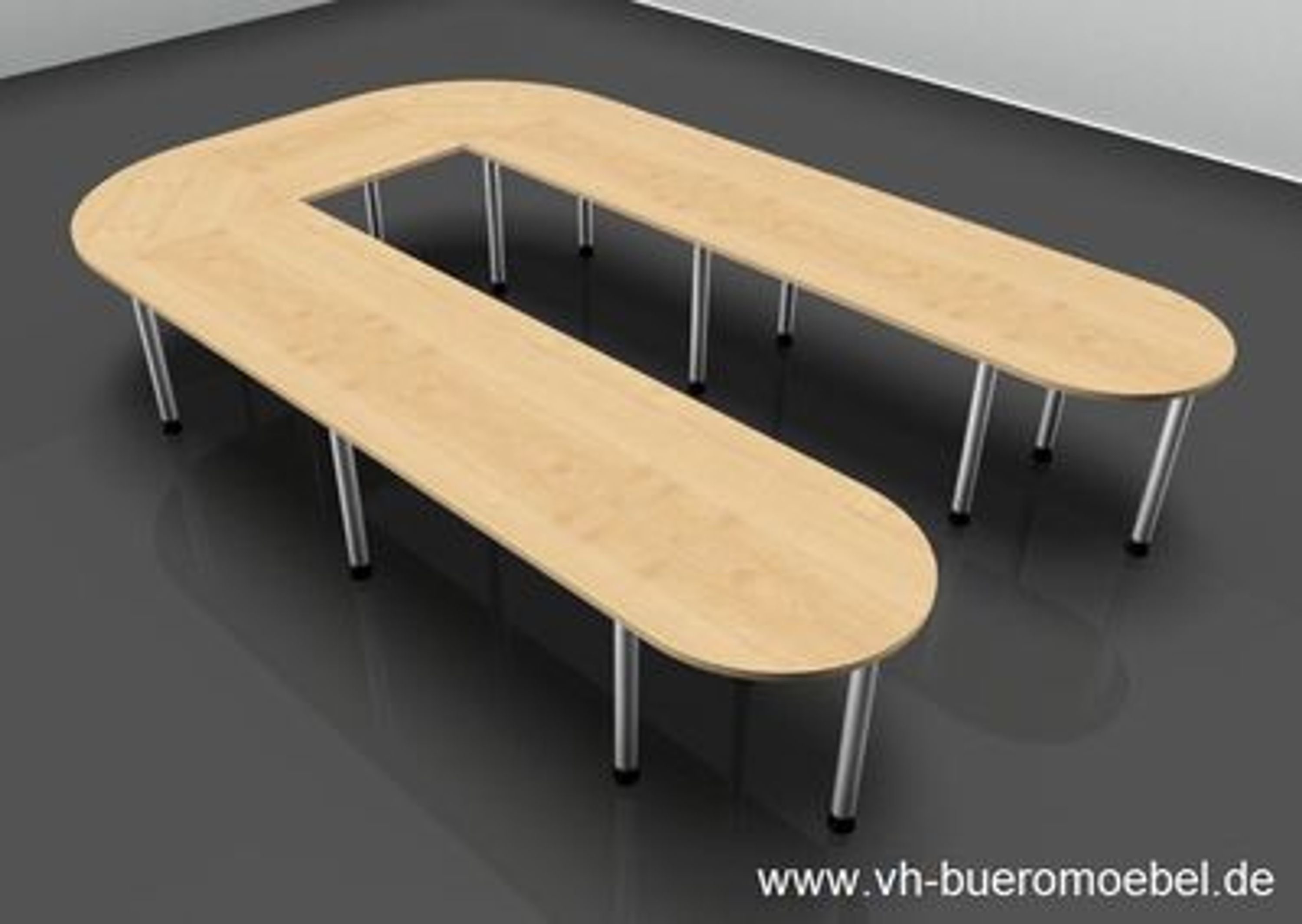 konferenztisch besprechungstisch u form schulungstisch tisch 380 cm kaufen bei. Black Bedroom Furniture Sets. Home Design Ideas