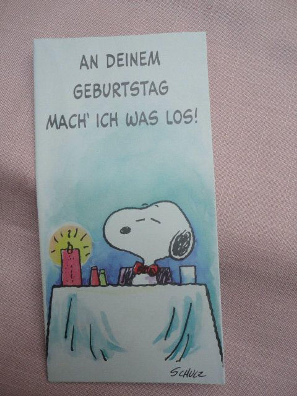 Peanuts Snoopy Schulz Poster Geburtstagskarte Hallmark gebraucht