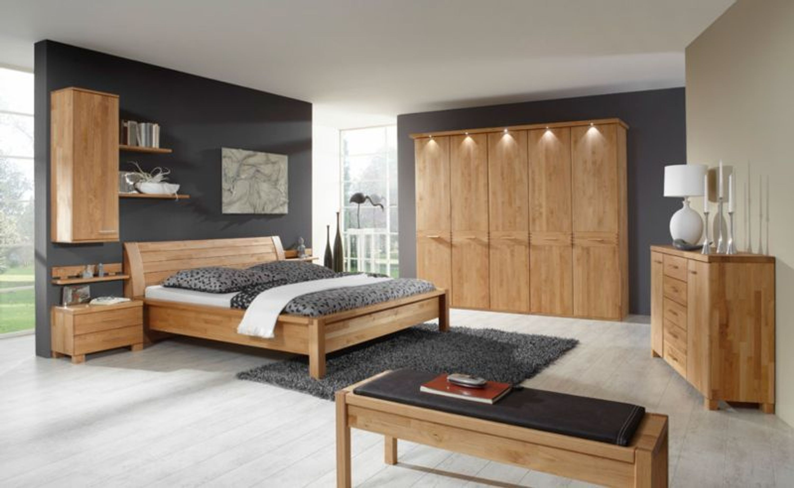 gent schlafzimmer in erle massiv 200x200 kaufen bei. Black Bedroom Furniture Sets. Home Design Ideas