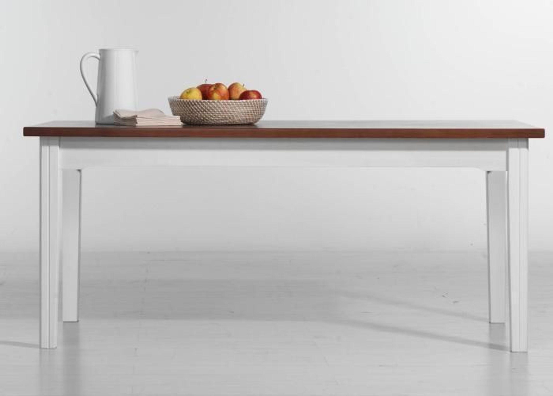 esstisch pineta im landhausstil wei cognac 160 x 90 cm. Black Bedroom Furniture Sets. Home Design Ideas