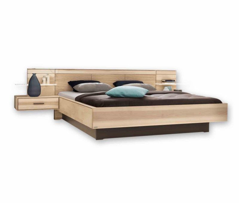 bett mira mit nachtkonsolen paneelen in strukturesche geschroppt 160x200 kaufen bei. Black Bedroom Furniture Sets. Home Design Ideas