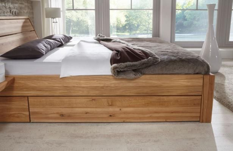 loft massivholzbett mit 2 nachtkonsolen schublade. Black Bedroom Furniture Sets. Home Design Ideas