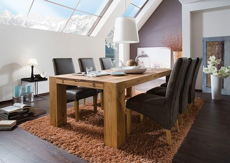esstisch balder esszimmertisch holz massiv 220x100 wildeiche ge lt kaufen bei. Black Bedroom Furniture Sets. Home Design Ideas