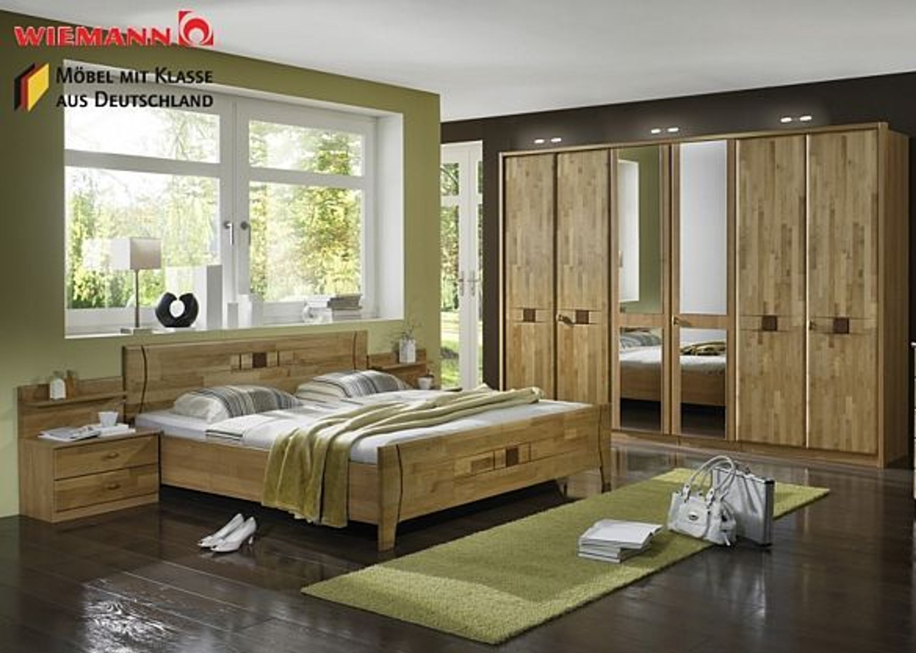schlafzimmer komplett wiemann kairo holz teilmassiv erle. Black Bedroom Furniture Sets. Home Design Ideas