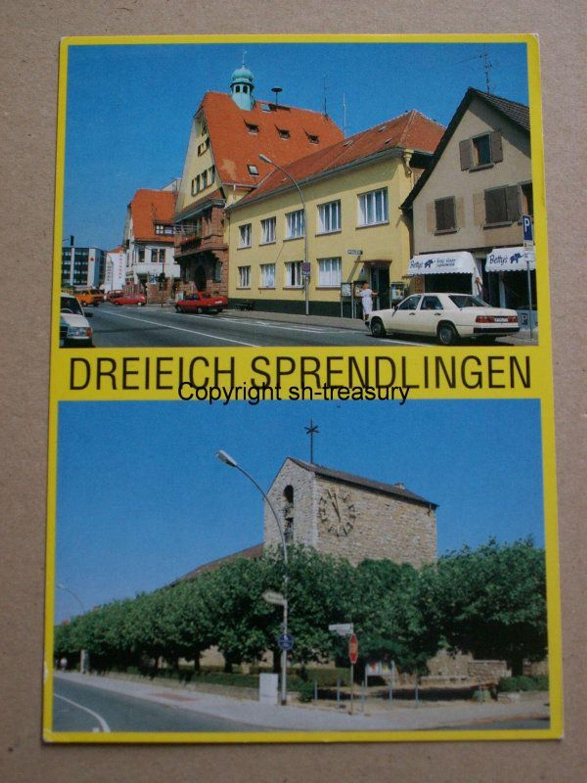 alte ak farbig dreieich spendlingen rathaus laurentiuskirche ungelaufen kaufen bei. Black Bedroom Furniture Sets. Home Design Ideas