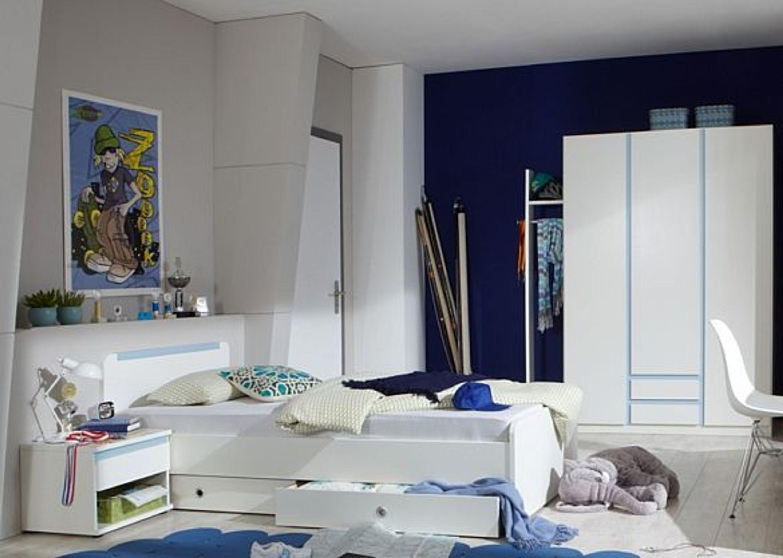 Kinderzimmer bibi jugendzimmer komplett 5 teilig wei blau for Kinderzimmer komplett kleinkind