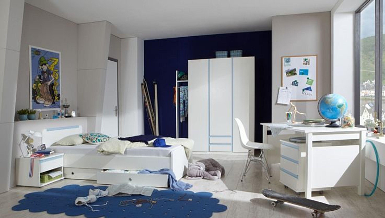 Kinderzimmer bibi jugendzimmer komplett 7 teilig wei blau for Kinderzimmer komplett kleinkind