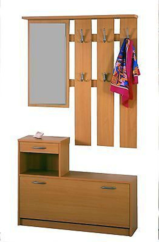 1398 garderobe wandgarderobe mit schuhschrank kaufen bei for Garderobe buche nachbildung